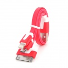 USB to Micro USB / 8-Pin Lightning / 30-Pin Charging Cable for iPhone / Samsung - Red (23cm)