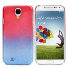 Rain Drop Pattern Ultra-Slim Plastic Back Case for Samsung Galaxy S4 / i9500 - Red + Blue
