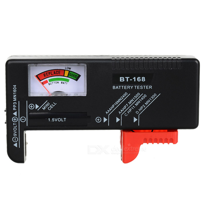 Sunwa 1.5V/9V/Button Battery Power Level Tester