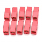RJ45 8P8C Female to Female Adapter for Network Cable - Red (10 PCS)