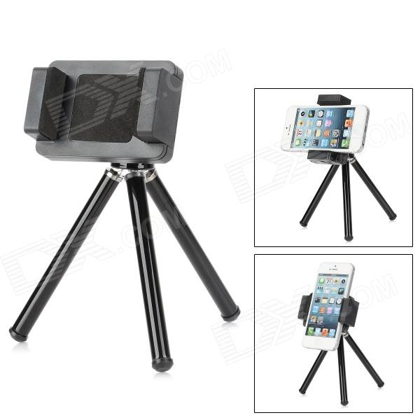 Universal Retractable Desktop Tripod for Cellphone / Digital Camera - Black universal 2 in 1 0 65x wide angle macro lens glass filter for cellphone tablet pc black