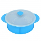 GEL0425 Panda Pattern Heat-resistant Silicone Steamer Basket  - Blue + White