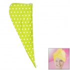Soft Hair Drying Towel Hat / Cap - Yellow Green + White