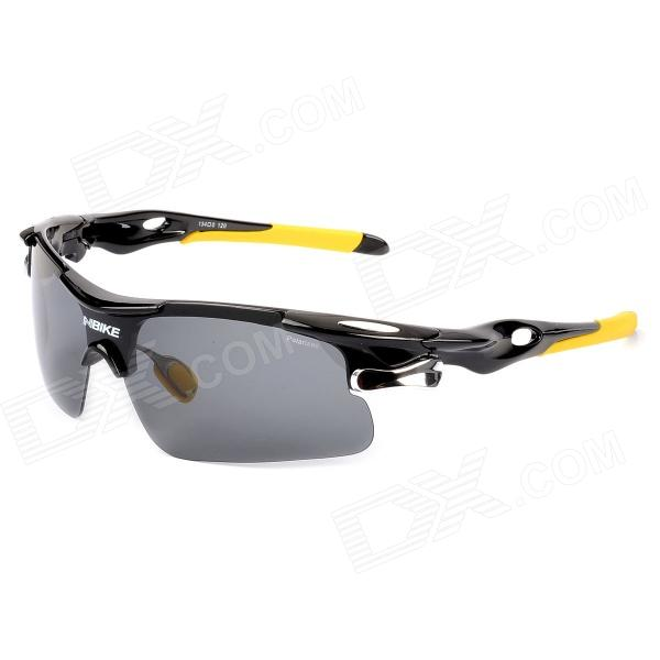 NBIKE Cycling Riding UV Protection Polarized Sunglasses - Black + Yellow retro women sunglasses polarized driving sun glasses with pc metal hinge shades uv400 protection gafas de sol mujer 4 colors
