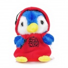 DJ Style Early Learning Penguin Talking Toy for Kids - Red + Blue + White (3 x AAA)