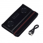 Protective PU Leather Smart Case w/ Speakers for iPad Mini - Black