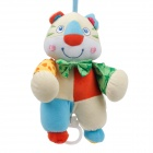 Cute Tiger Baby Crib Hanging Bell Ringing Toy - Beige + Orange + Blue