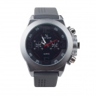 Super Speed V6 V0087B-GB Cool Men's Quartz Wrist Watch - Grey + Black (1 x LR626)