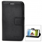 iPaky Protective Flip Open Style PU Leather Case w/ Card Slot for Samsung Galaxy S4 - Black