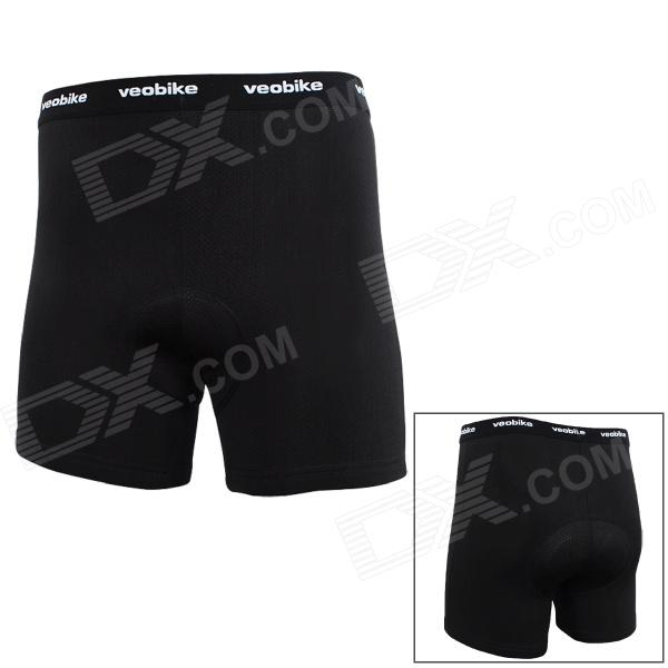 Veobike V-04 Cycling Riding 78-Hole Silicone Cushion Underpants for Men - Black (XXL)