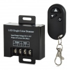 LED Single Color 3-Key Wireless RF Dimmer Controller Set - Black (DC 12~24V)