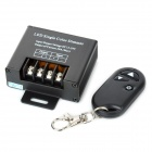 LED Single Color 3-Key Wireless RF Dimmer Controller - Black (12~24V)