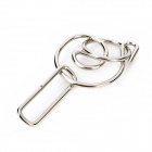 Steel Intelligence Solution Ring Buckle Educational Toys - Silver