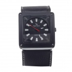 Super Speed V6 V0164-BW Men's Square Dial Wide Band Quartz Wrist Watch - Black + While (1 x LR626)