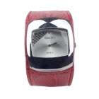 Super Speed V6 TEXTO-BS Women's Square Crystal Quartz Wrist Watch - Deep Pink + Silver (1 x LR626)