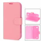 Protective PU Leather Cover TPU Soft Back Case Stand for Beidou LA-M1 - Pink
