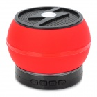 LXBT-02S Portable Mini 5.1-Channel Bluetooth v2.1 Bass Speaker w/ Microphone - Red + Black