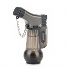 2000 Centigrade Double Blue Flame Butane Jet Torch Lighter w / Keychain - Translucent Black