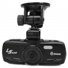 DOD LS400 2.7'' LCD 120 Degree Lens HD 1080P Car DVR Video Recorder w/ 2 LED Night Vision - Black