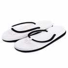 Rubber + PVC Flip-Flop Slippers - Black + White (Size 38)