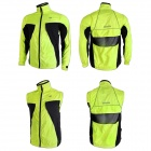 NUCKILY NY0921 Outdoor Sports Reflective Windproof Cycling Jacket - Fluorescent Green (Size XXL)
