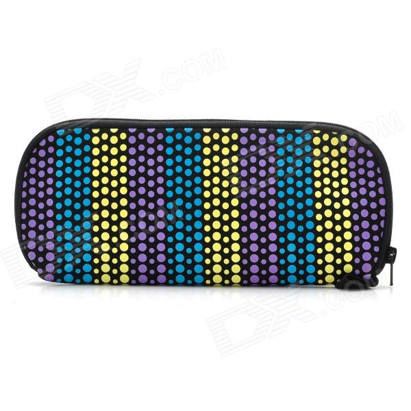 Winmax WMP20070E Colorful Dot Pattern Waterproof Pencil Case / Pouch - Blue + Yellow + Purple клип кейс zakka для apple iphone 7 8 серый