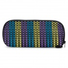 Winmax WMP20070E Colorful Dot Pattern Waterproof Pencil Case / Pouch  - Blue + Yellow + Purple