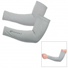 NUCKILY E273 Professional Outdoor Sports Anti-Sunburn Cycling Arm Sleeves - Grey (Pair)