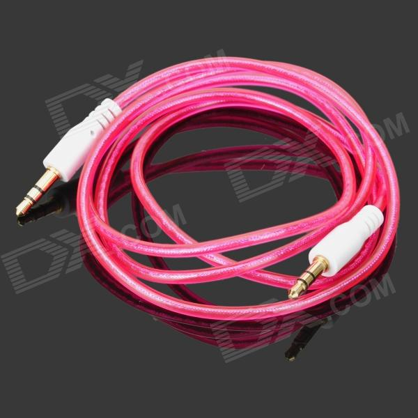 Translucent 3.5mm Audio Male to Male Connection Cable - Deep Pink (95cm)