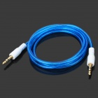 Translucent 3.5mm Audio Male to Male Connection Cable - Deep Blue (95cm)