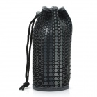 Winmax WMP20063H Dot Pattern Water Bottle Bag w/ Drawstring - Black