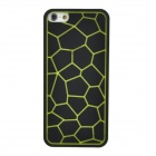 Stylish Water Cube Pattern Anti-slip Plastic Protective Back Case for Iphone 5 - Green + Black