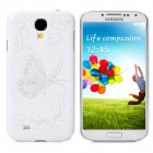 Stylish Butterfly Pattern Plastic Back Case for Samsung Galaxy S4 / i9500 - White