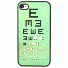 Stylish Sheep Visual Testing Chart Pattern Matte Protective Back Case for Iphone 4S / 4 - Green