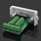 HDMI-201 Soldering-free Socket 3D 1080P Cable Repair HDMI Module - Green + White