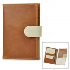Multifunction Travel PU Leather Passport Cards Holder Case - Brown