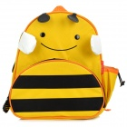 Cartoon Bee Style Canvas Kid's Backpack Shoolbag - Yellow + Black + White