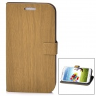 Stylish PU Leather Flip-Open Case for Samsung Galaxy S4 / i9500 - Brown
