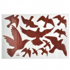 JM7033 Swallows Pattern Wandgestaltung PVC-Papier-Aufkleber - Brown (60 x 90cm)
