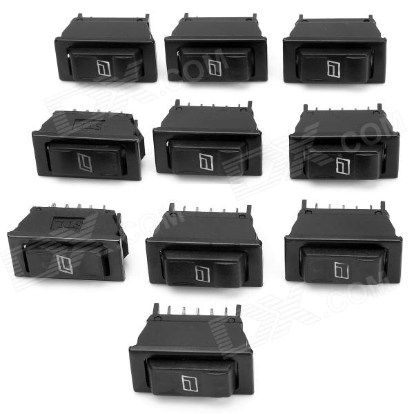DIY Car Window Rocker Switch - Black (10 PCS) maitech diy car on off rocker switch black red 10 pcs 12v