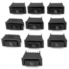 DIY Car Window Rocker Switch - Black (10 PCS)