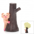 Cute Pig Behind Trunk Style Resin Stationery File / Photo / Memo Pad Clip - Flesh Color + Dark Brown