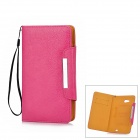 KALAIDENG Protective PU Leather Case w/ Card Slots for HuaWei Ascend Mate 6.1 - Deep Pink