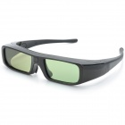 HY586 Universal 3D Active Shutter Glasses for Projector - Black (1 x CR2032)