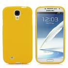Non-Slip Protective TPU Soft Back Case for Samsung Galaxy S4 i9500 - Yellow