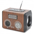 Aodasen MD-96 USB Rechargable Wood Style Multi-Media Player Speaker w/ TF / FM - Black