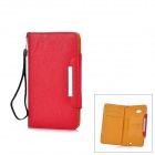 KALAIDENG Protective PU Ledertasche w / Card Slots für Huawei Ascend Mate-6.1 - Bright Red