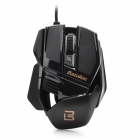 Bazalias X1 USB 2.0 800 / 1200 / 2000dpi Wired Optical Game Mouse - Black