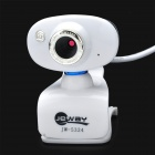 JEWAY JW-5324 8.0MP HD USB Clip-on Digital PC / Laptop Webcam w/ Microphone - White + Blue
