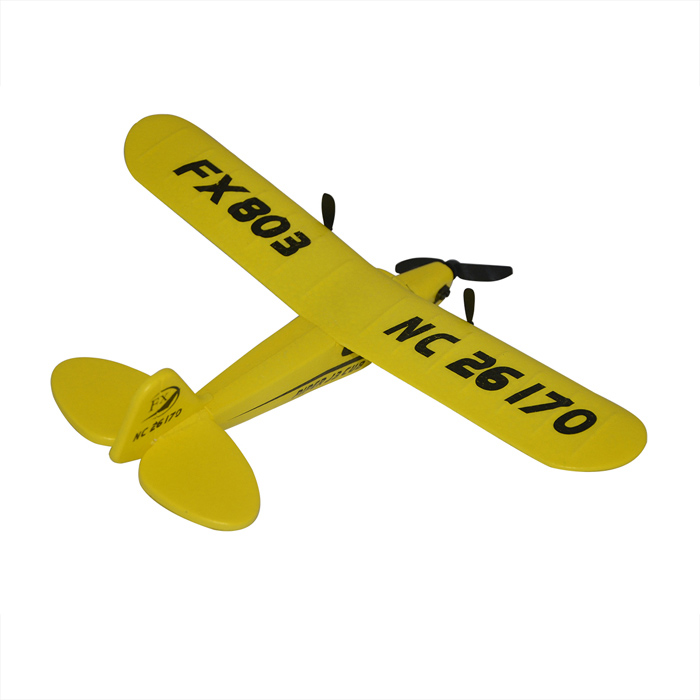 HL803 Drop Resistant 27MHz 2-CH R/C Glider w/ Remote Control - Yellow (6 x AA)